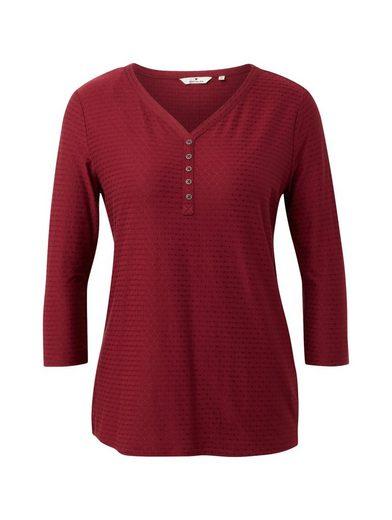 TOM TAILOR 3/4-Arm-Shirt »Shirt mit Henley-Ausschnitt«