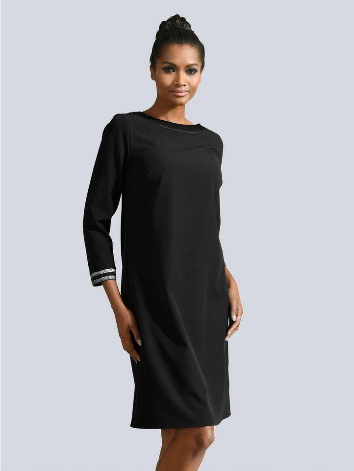 Festtagsmode - Alba Moda Kleid mit Glanzgarn am Saum › schwarz  - Onlineshop OTTO