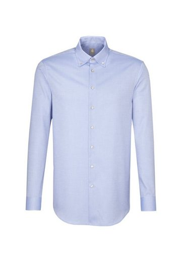 Jacques Britt Businesshemd »Custom Fit« Custom Fit Langarm Button-Down-Kragen Uni