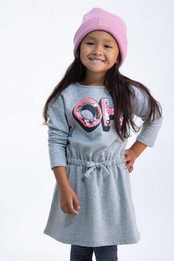 Garcia A-Linien-Kleid mit Textaufdruck aus Pailletten