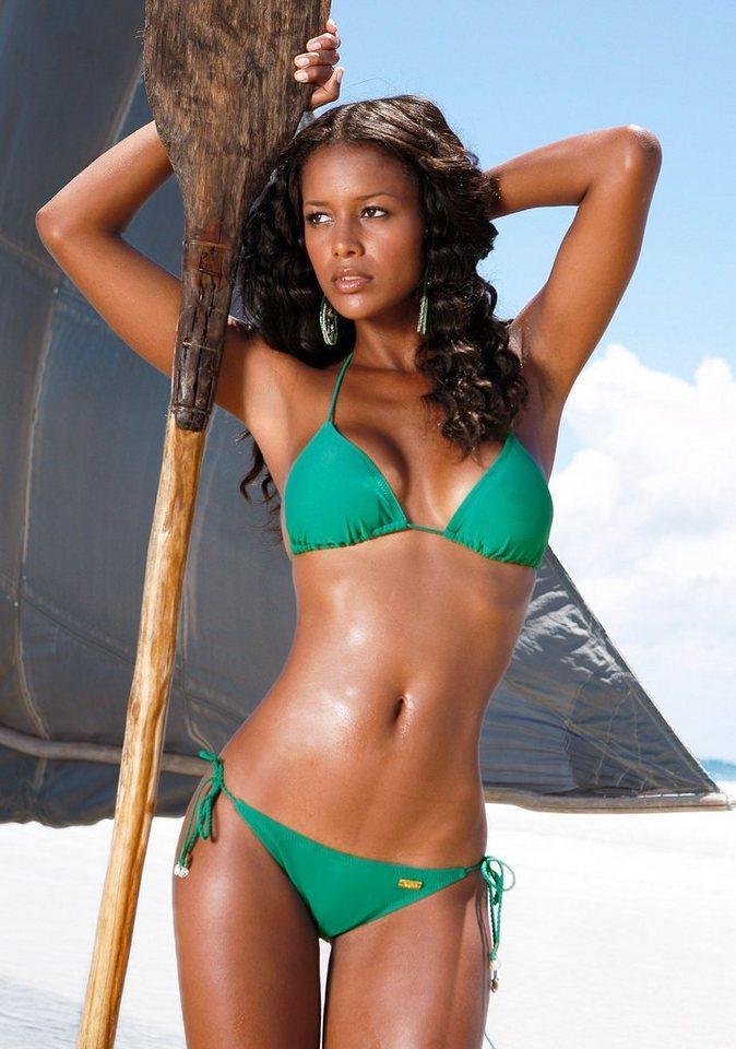 Damen Buffalo Triangel-Bikini grün, schwarz | 04893865241895