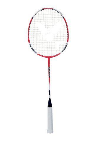 Set: Badminton Carbon-/Alu-Schläger inkl. Griffbänder. Komplett besaitet, Victor, »AL 6500 I«