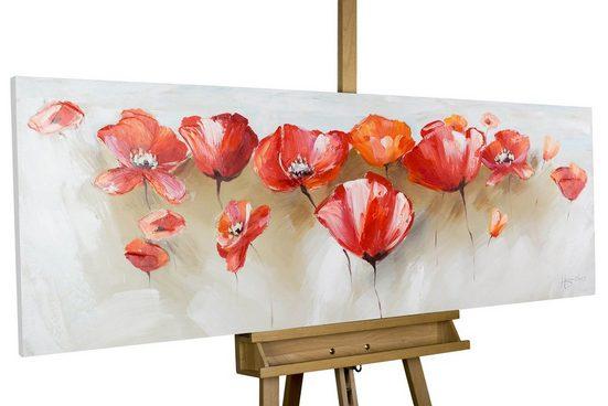 KUNSTLOFT Gemälde »Liebeserklärung im Mohnblumenfeld«, handgemaltes Bild auf Leinwand