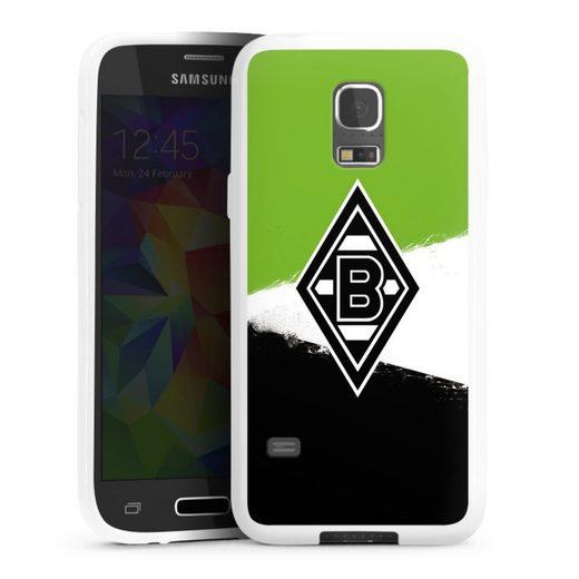 DeinDesign Handyhülle »Borussia Grunge Grün-Weiss-Schwarz« Samsung Galaxy S5 mini, Hülle Gladbach Borussia Mönchengladbach