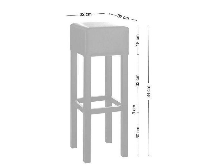 Barmöbel - DELIFE 4er Set Barhocker Vitoria gepolstert mit Fußablage  - Onlineshop OTTO