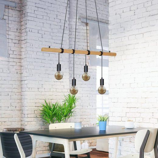 Briloner Leuchten LED Pendelleuchte »Sven«, 4-flammig, Pendellampe im Vintage Desgin, Höhe: 150cm