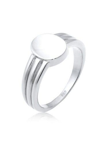 Elli Fingerring »Siegelring Basic Blogger Geo 925 Sterling Silber«
