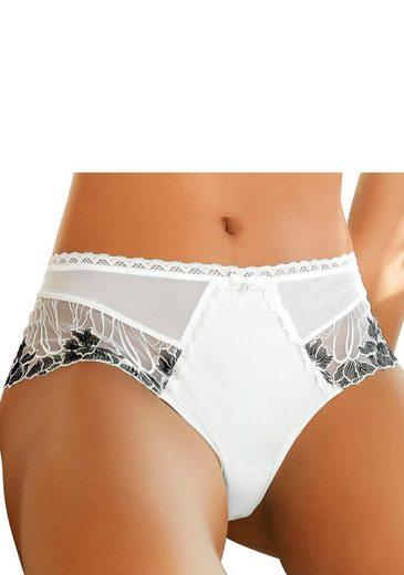 LASCANA Panty mit schöner Stickerei-Spitze