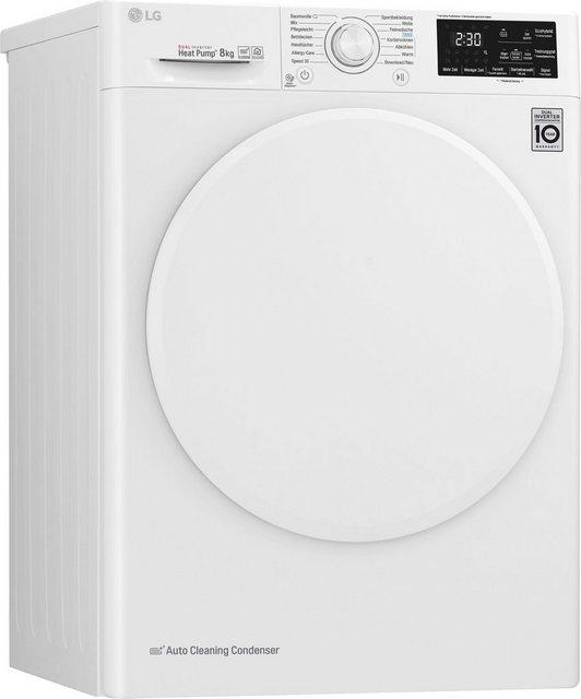 LG Wärmepumpentrockner RT8DIHP, 8 kg | Bad > Waschmaschinen und Trockner > Wärmepumpentrockner | Weiß | LG