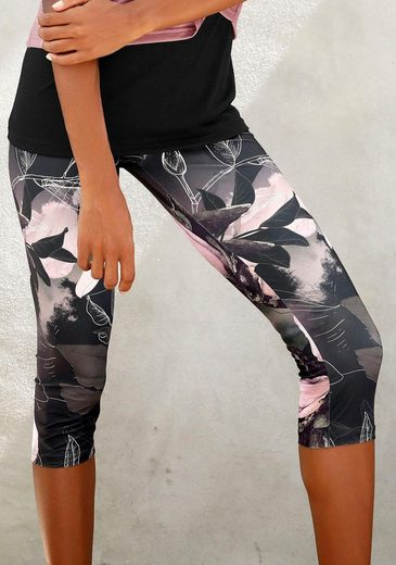 LASCANA Caprileggings »Lascana Caprileggings Tropical«