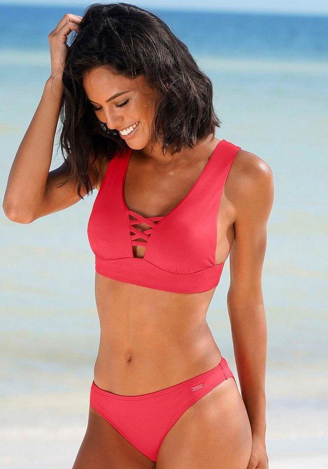 Bademode - Bench. Bikini Hose »Perfect« › rot  - Onlineshop OTTO