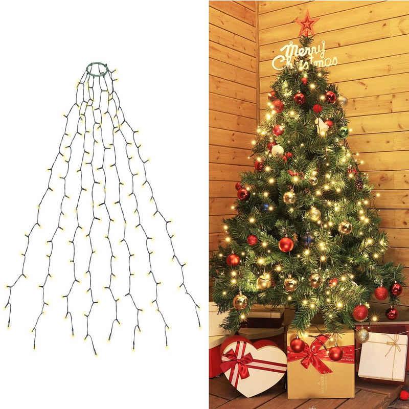 Salcar LED-Lichterkette »Christbaumbeleuchtung Weihnachtsbaum Lichterkette mit Girlanden LED Lichterkette Wasserdicht für baum tannenbaum grüngürtel busche - Warmweiß«, für 150cm 180cm 240cm Baum