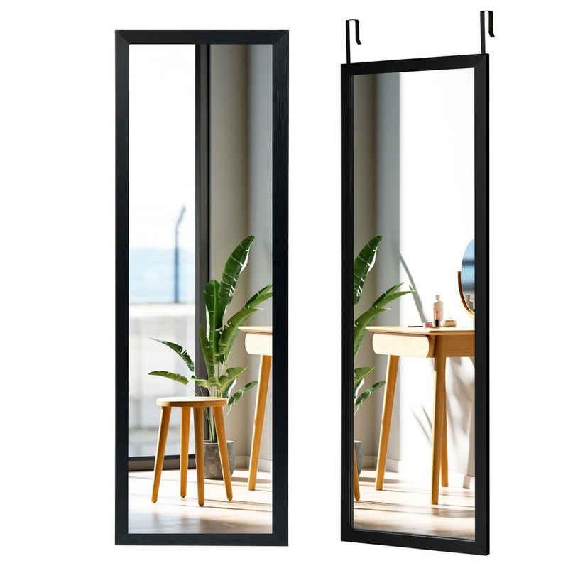 COSTWAY Wandspiegel »Türspiegel Hängespiegel Ganzkörperspiegel«, mit höhenverstellbaren Hängehaken