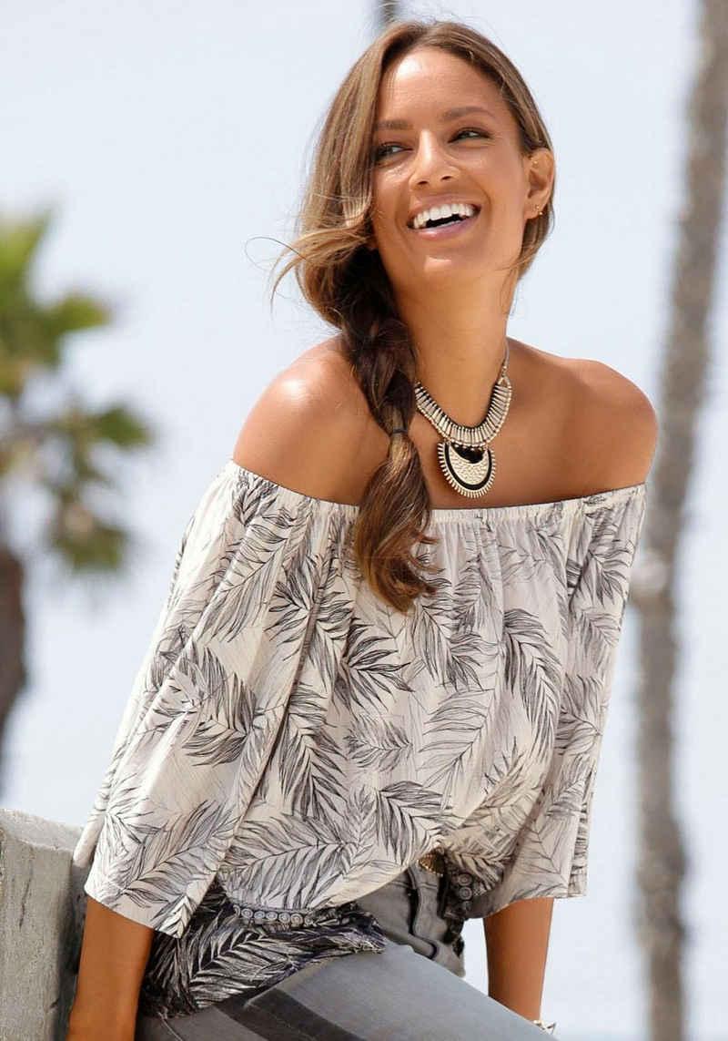 Buffalo Strandshirt mit Blätterdruck