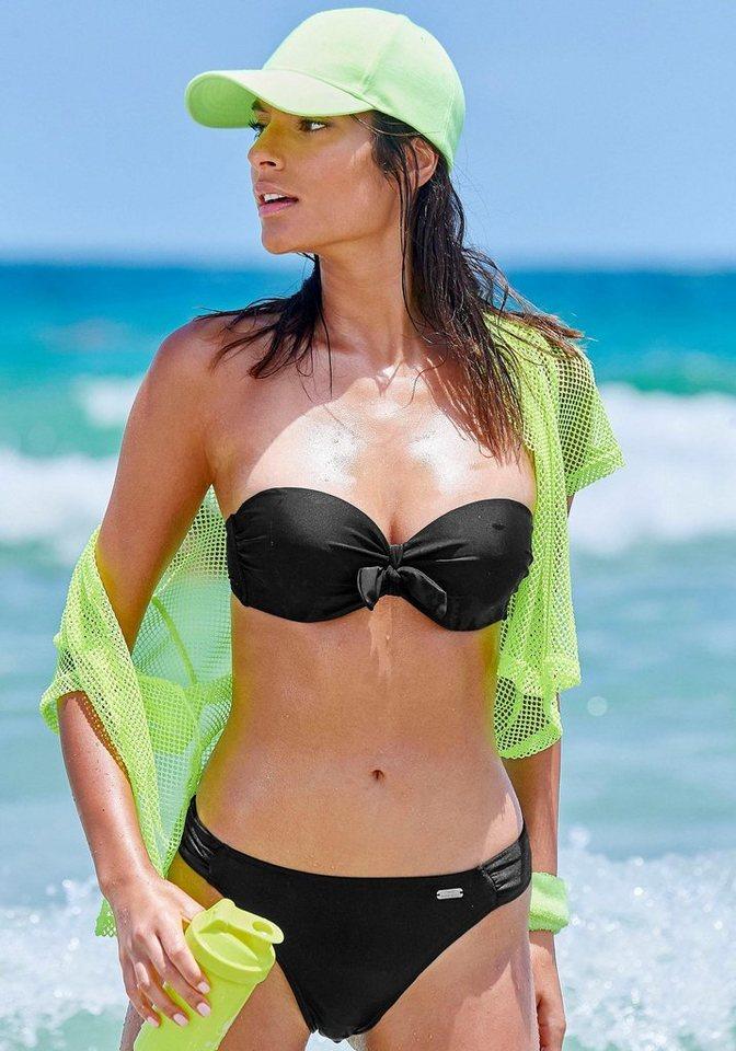 Bademode - Venice Beach Bügel Bandeau Bikini mit Zierschleife › schwarz  - Onlineshop OTTO
