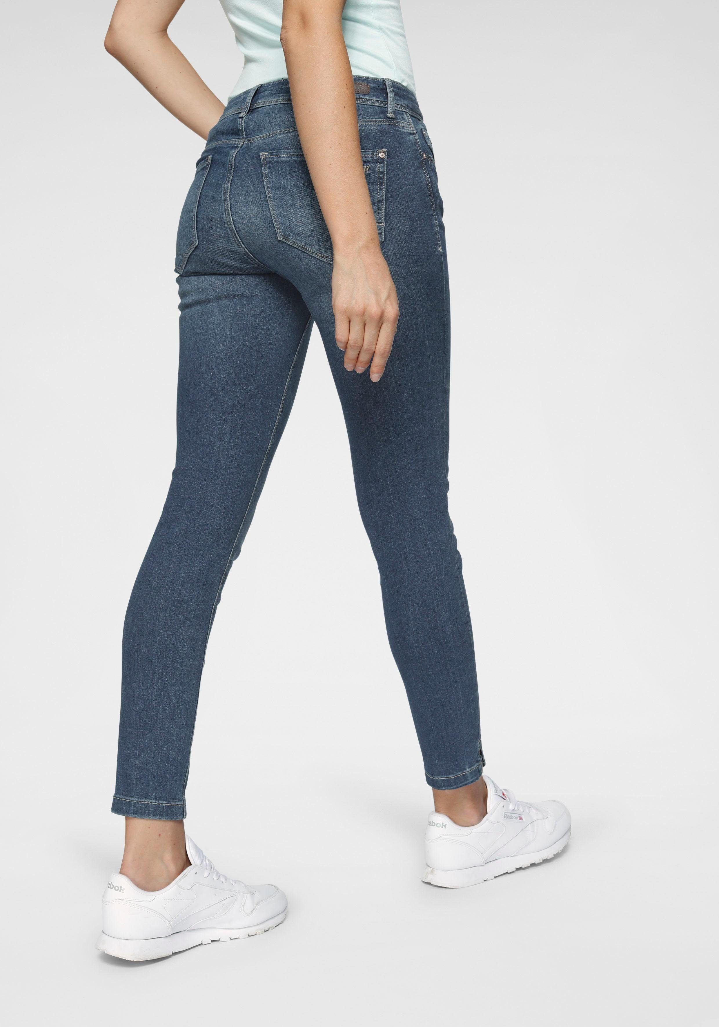 Mavi Skinny fit Jeans »ADRIANA ANKLE« in Crash und Crinkle Optik online kaufen | OTTO