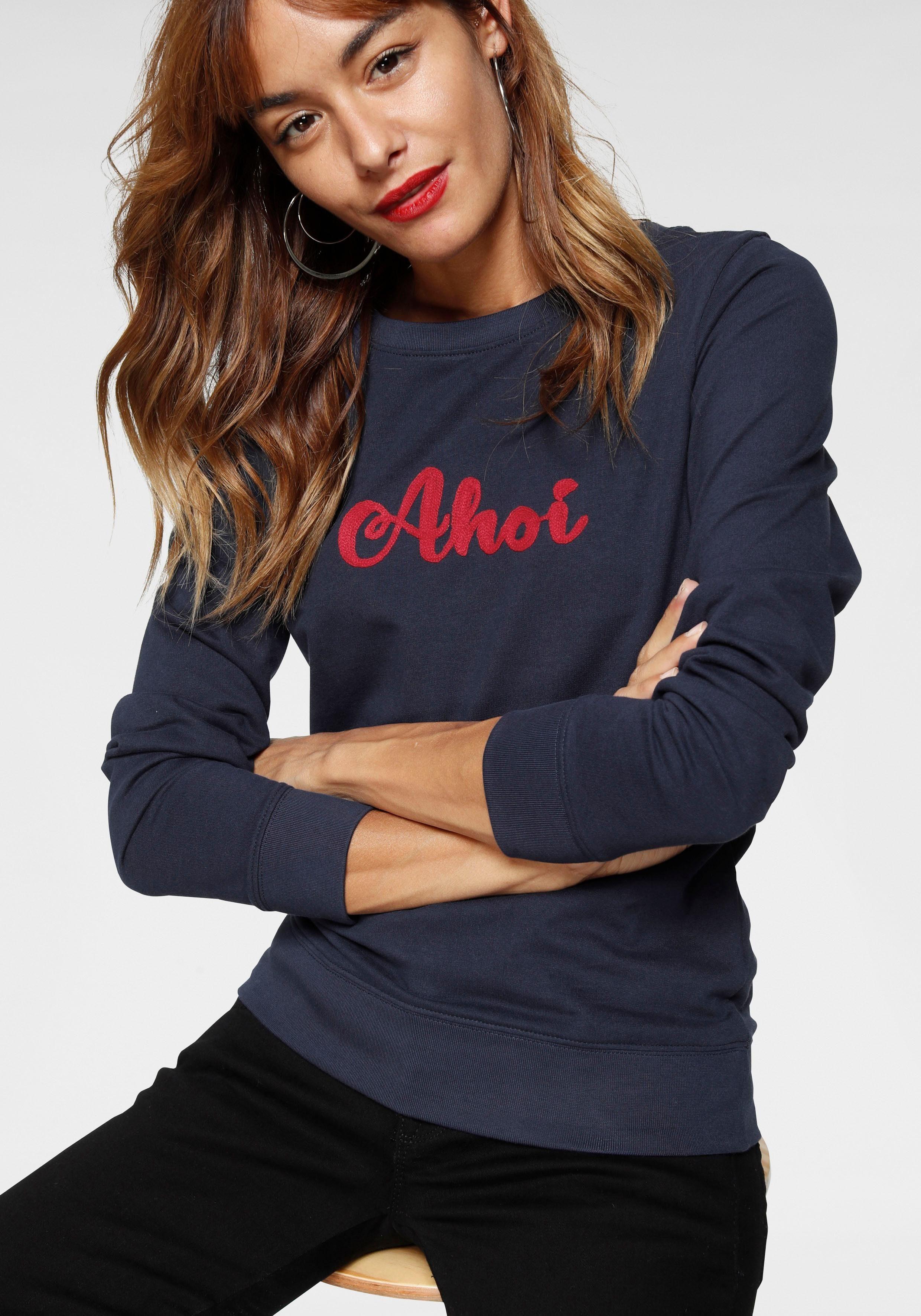 AJC Sweatshirt mit maritimer Stickerei, Modisches Damen Sweaty von AJC online kaufen | OTTO
