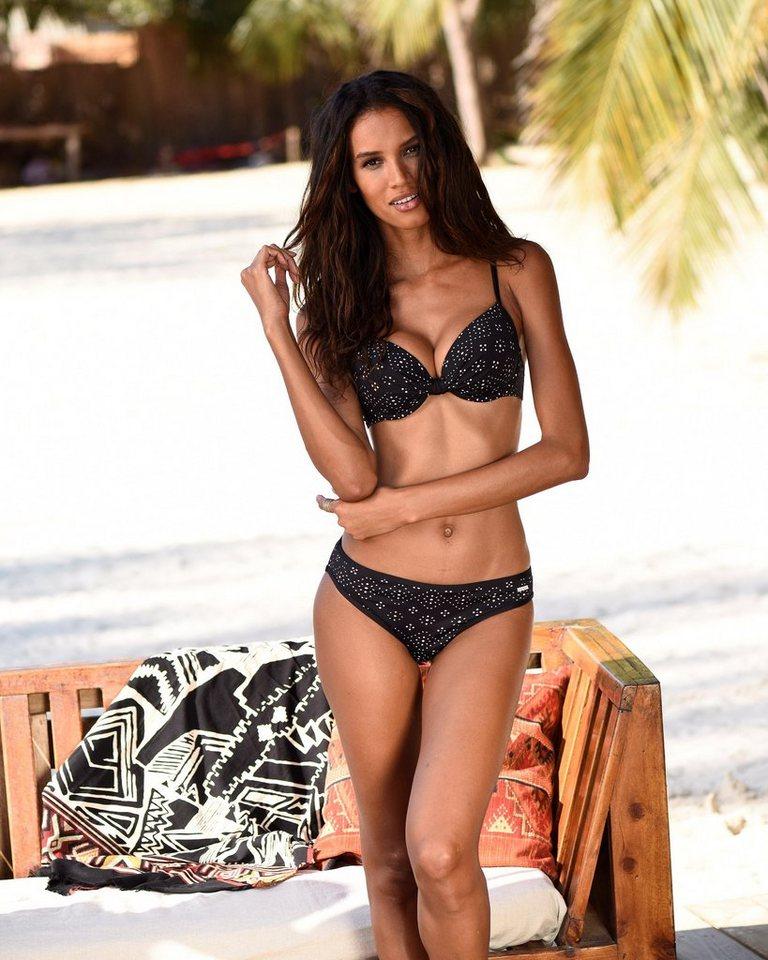 Bademode - Sunseeker Bügel Bikini Top »Femme«, mit Cut Outs › schwarz  - Onlineshop OTTO