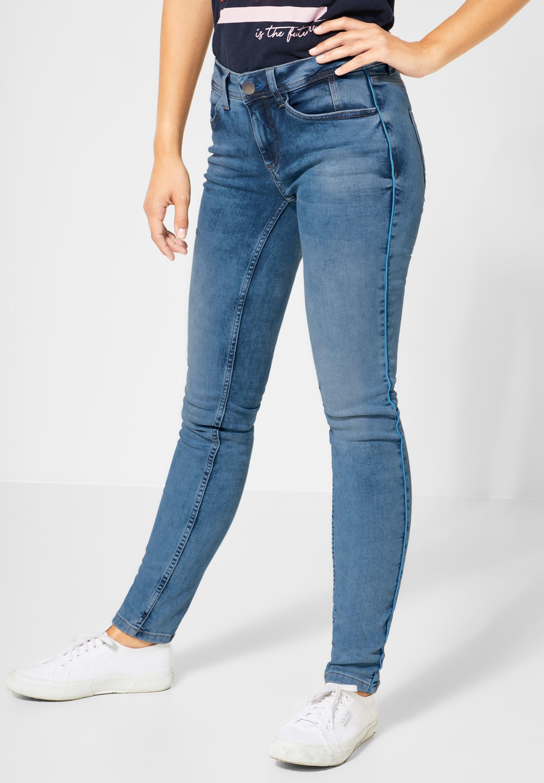 STREET ONE Slim fit Jeans mit Galon Streifen, Slim Fit Denim online kaufen | OTTO