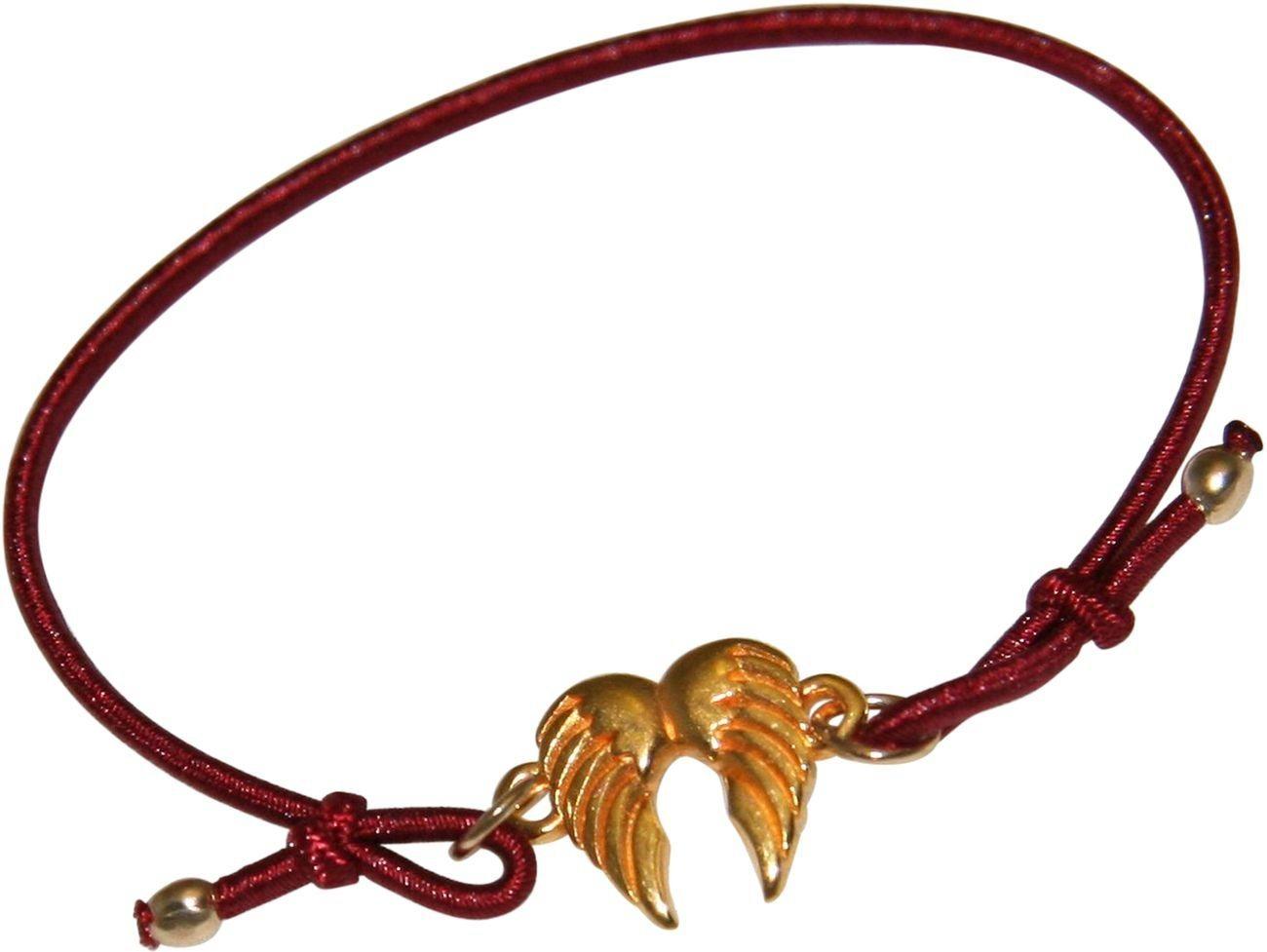 Gemshine Wickelarmband »Knoten Damen - Mädchen - doppelter Engel Flügel - Made in Deutschland«   Schmuck > Armbänder > Wickelarmbänder   Goldfarben   Gemshine