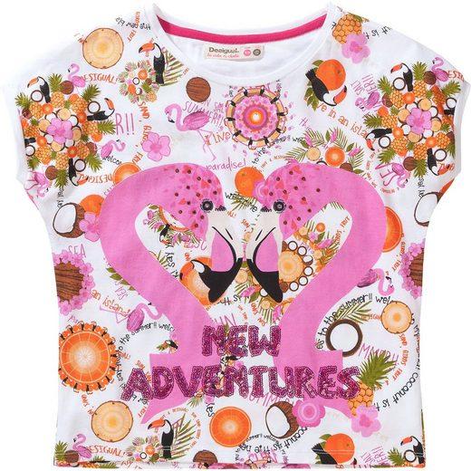 Desigual T-Shirt für Mädchen, Flamingo