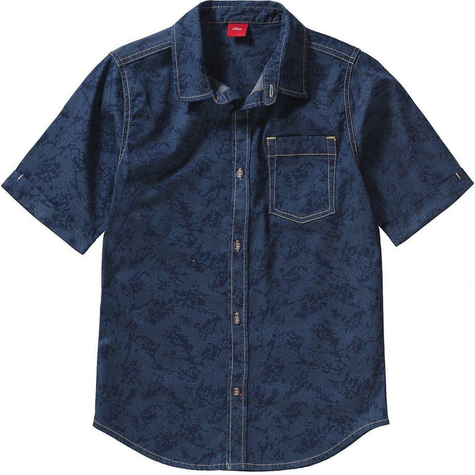 s oliver kinder jeanshemd slim fit online kaufen otto. Black Bedroom Furniture Sets. Home Design Ideas