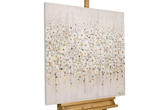 KUNSTLOFT Gemälde »Versammlung der Blumen«, handgemaltes Bild auf Leinwand