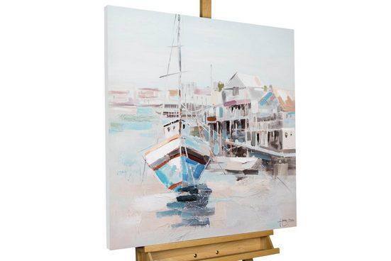 KUNSTLOFT Gemälde »Auf zu neuen Ufern«, handgemaltes Bild auf Leinwand