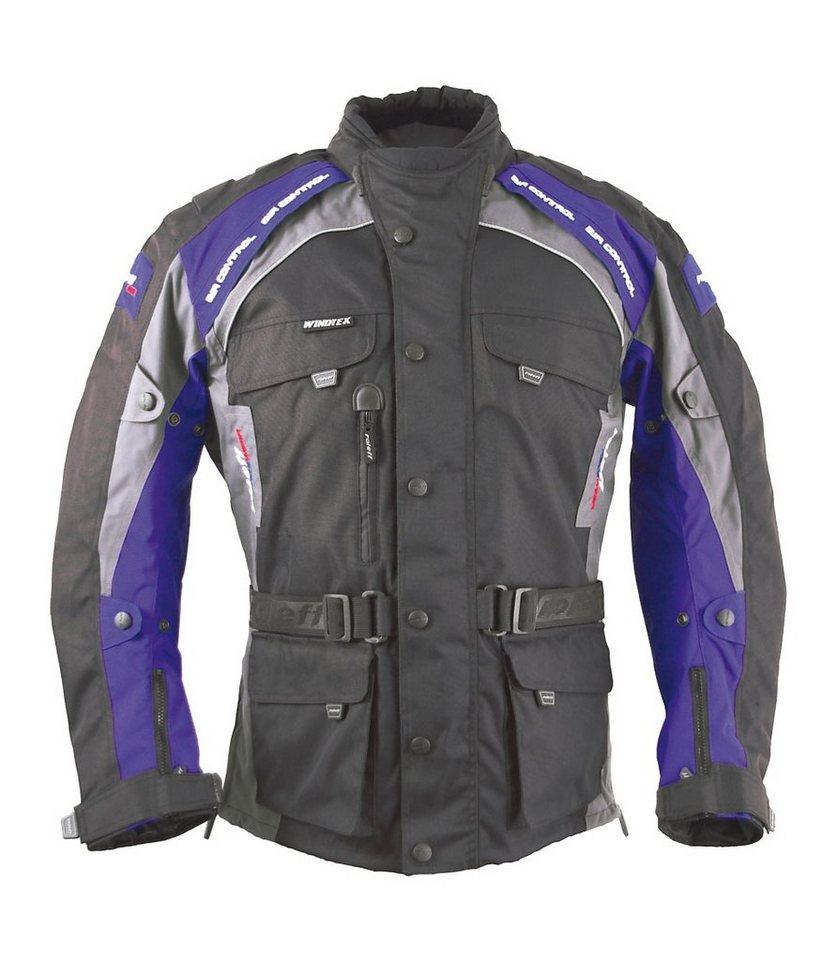 Motorradjacke »Liverpool« in blau/schwarz