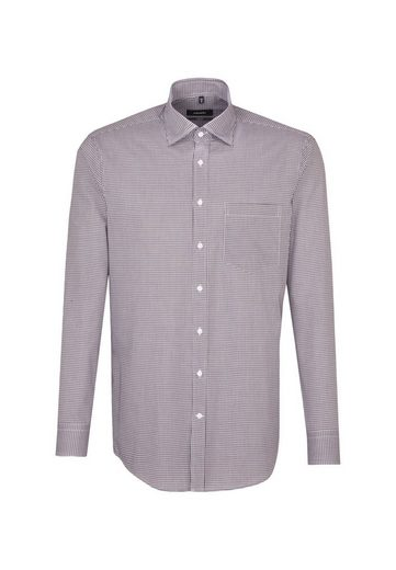 seidensticker Businesshemd »Comfort« Comfort Langarm Covered-Button-Down-Kragen Karo
