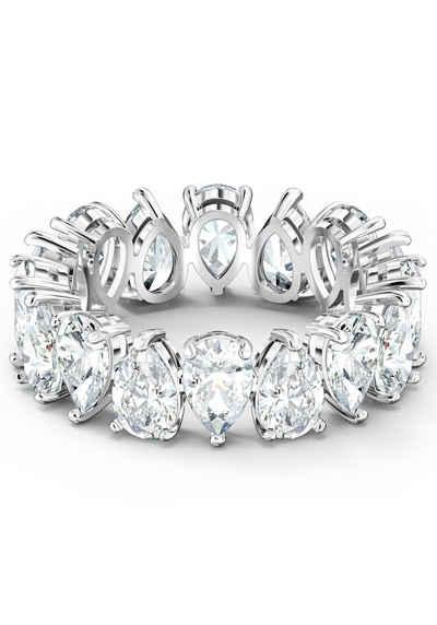 Swarovski Fingerring »Vittore Pear, weiss, rhodiniert, 5572824, 5572825, 5572826, 5572827, 5563966«, mit Swarovski® Kristallen