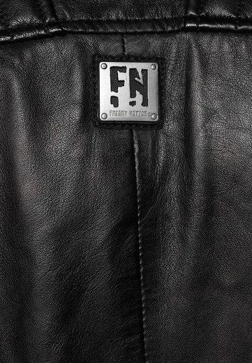Freaky Nation Bikerjacke »CROSSOVER« Stehkragen