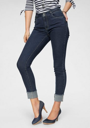 Arizona Skinny-fit-Jeans »Mit Tunnelzug und Ösen« High Waist