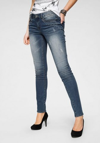 ARIZONA Узкие джинсы »mit Glitzersteinch...