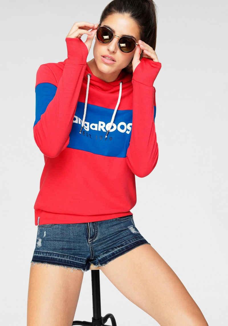 KangaROOS Hoodie mit Markennamen auf der Brust