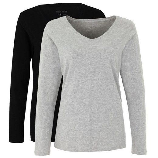 Deik & Dunes V-Shirt »Liva« (2-tlg) mit V-Ausschnitt