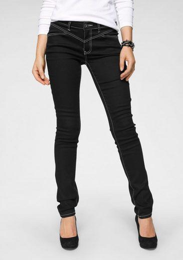 Arizona Slim-fit-Jeans »Shaping mit Kontrastnähten« Mid Waist