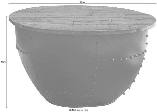 Wohnzimmertische - Home affaire Couchtisch »Loft«, Tischplatte aus recyceltem Altholz, Shabby Chic, Vintage  - Onlineshop OTTO