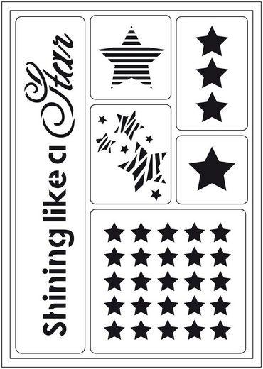 "Viva Decor Schablone ""Shining like a Star"" 6 Motive"