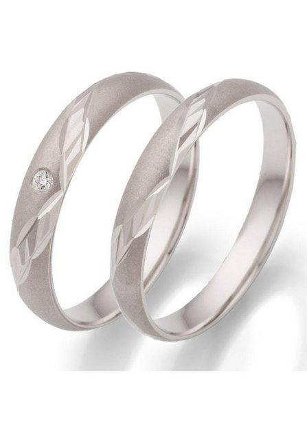 Firetti Trauring mit Gravur »3,5 mm, rhodiniert, mit Diamantschnitt«, wahlweise mit oder ohne Zirkonia   Schmuck > Ringe > Trauringe   Firetti