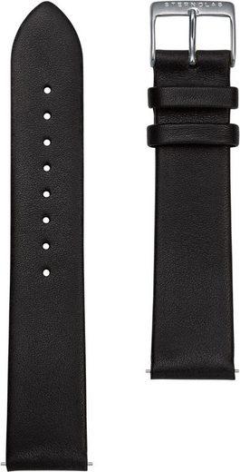 STERNGLAS Uhrenarmband »Premium 20 schwarz silber, SBA00/108«