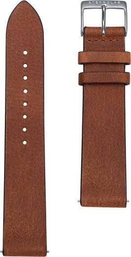 STERNGLAS Uhrenarmband »Vintage 20 mahagoni silber, SBA00/301«