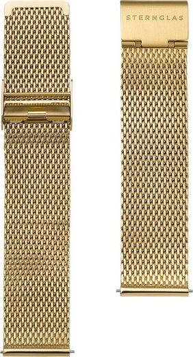 STERNGLAS Uhrenarmband »Milanaise 20 gold, SBA00/404«