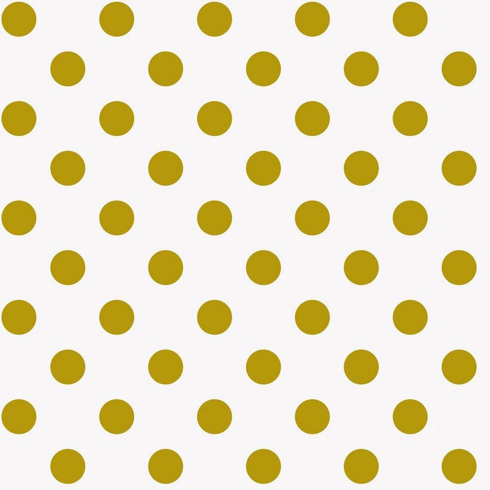 Baumwoll Stoff Goldene Punkte 140 Cm Breit Meterware Online