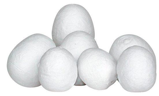 Watte-Eier Höhe ca. 30 mm 15 Stück