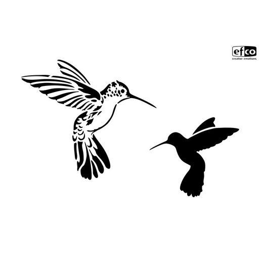 "Schablone ""Kolibris"" DIN A4"