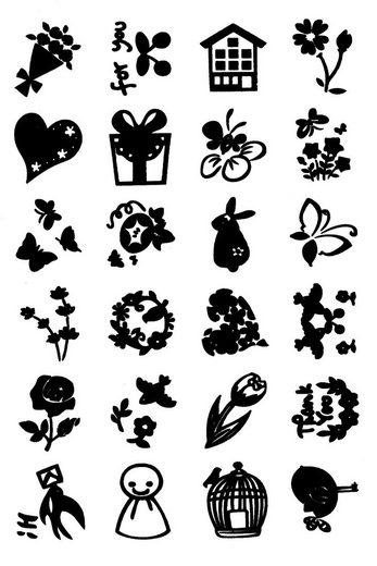 """VBS Silikonstempel """"Happy"""" 24 Motive Clearstamps"""