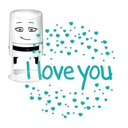 "NIO Stempelmotiv ""I love you, heart sparkles"" 4 cm"