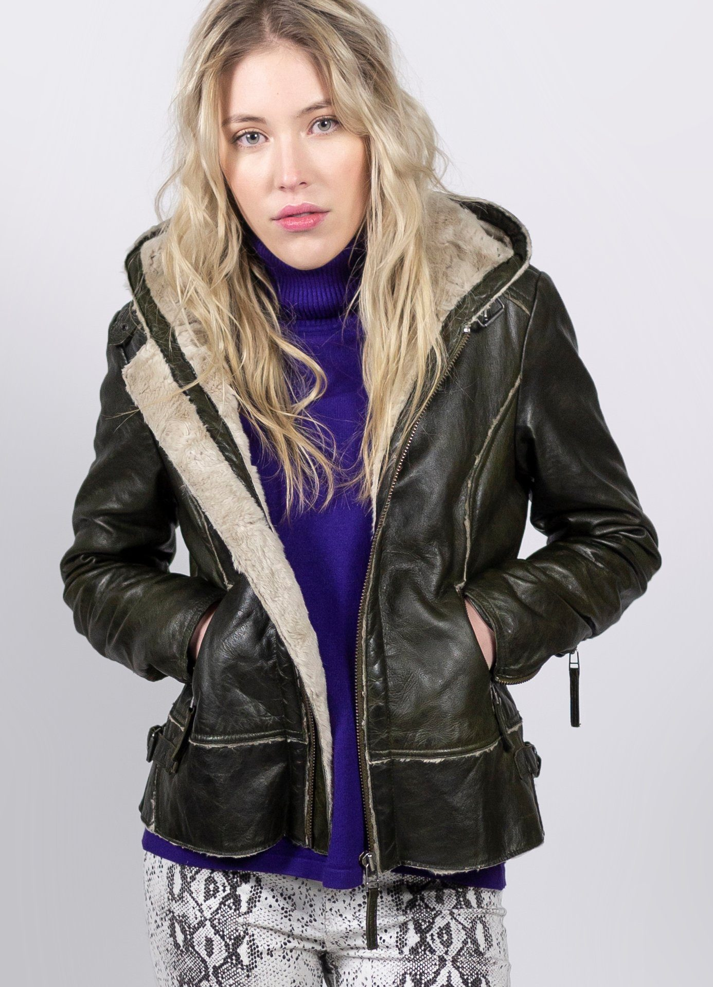 Freaky Nation Lederjacke »New Arctic«, Stylische Echtlederjacke online kaufen   OTTO