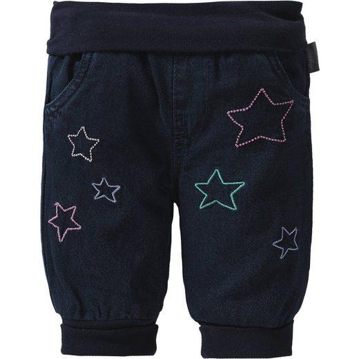 Sigikid Baby Jeans mit Stickereien für Mädchen, gefüttert